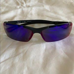 Ray Ban Jr mirrored blue sunglasses. Summer!